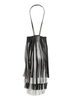 Calvin Klein 205W39NYC Layered Fringe Leather Bucket Bag