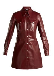 CALVIN KLEIN 205W39NYC Leather button-through shirtdress