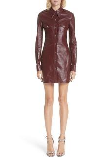CALVIN KLEIN 205W39NYC Leather Western Shirtdress