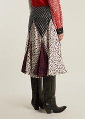 CALVIN KLEIN 205W39NYC Liberty floral-print silk skirt