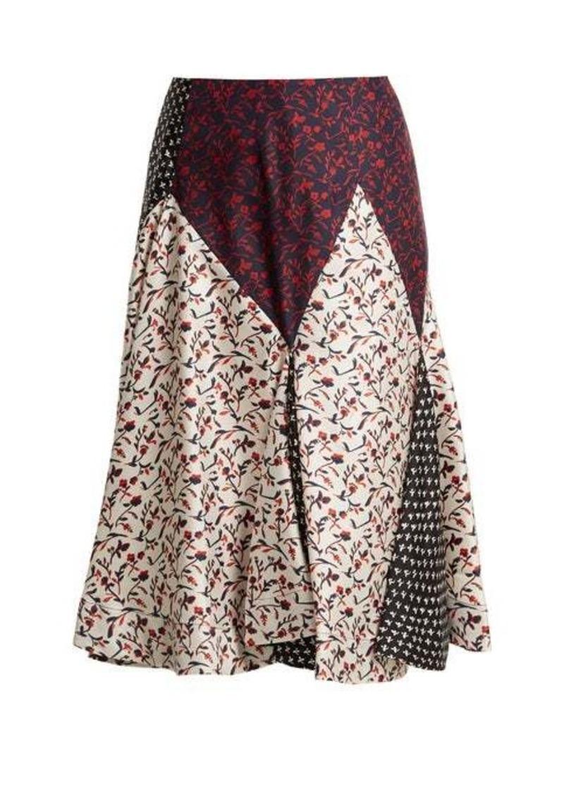 Calvin Klein Liberty floral-print silk skirt