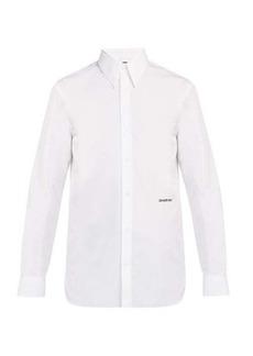 CALVIN KLEIN 205W39NYC Logo-embroidered cotton-poplin shirt