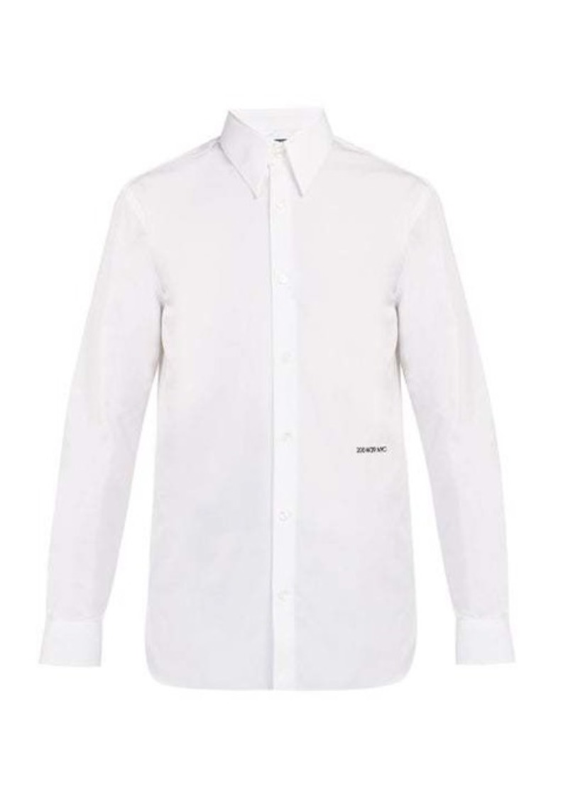 Calvin Klein Logo-embroidered cotton-poplin shirt