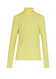 CALVIN KLEIN 205W39NYC Logo-embroidered stretch-cotton roll-neck top
