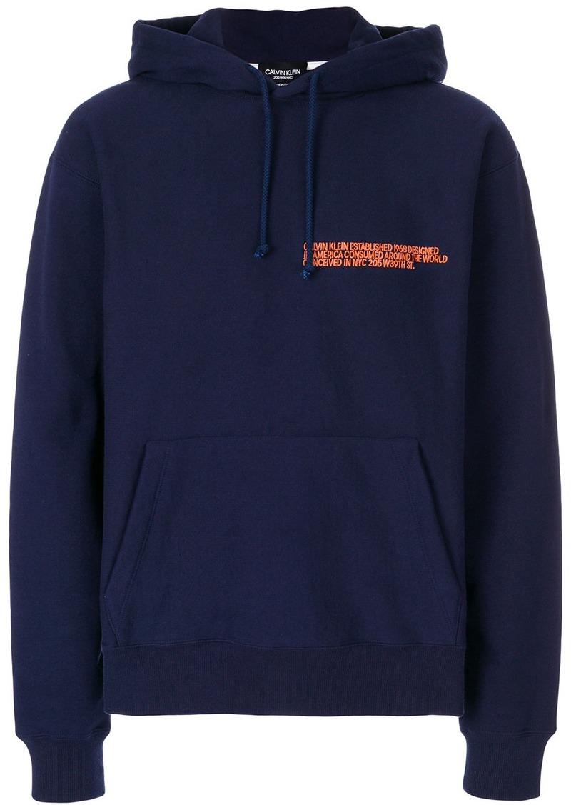 Calvin Klein logo-embroidered hoodie