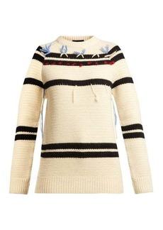 CALVIN KLEIN 205W39NYC Loose-thread striped wool sweater