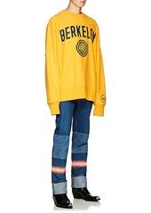 CALVIN KLEIN 205W39NYC Men's Berkeley-Print Cotton Oversized Sweatshirt