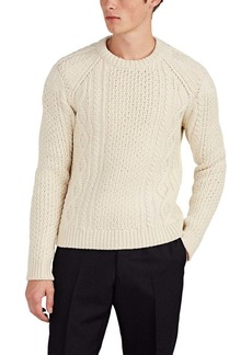 CALVIN KLEIN 205W39NYC Men's Cable-Knit Wool-Blend Sweater