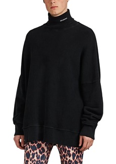CALVIN KLEIN 205W39NYC Men's Cotton French Terry Oversized Turtleneck Sweatshirt