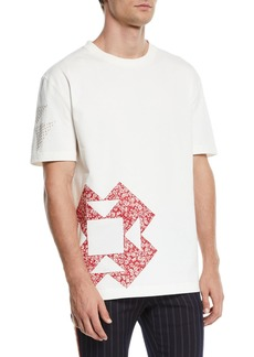 CALVIN KLEIN 205W39NYC Men's Graphic-Patch T-Shirt