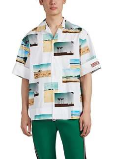 CALVIN KLEIN 205W39NYC Men's Landscape-Photo-Print Cotton Poplin Oversized Shirt