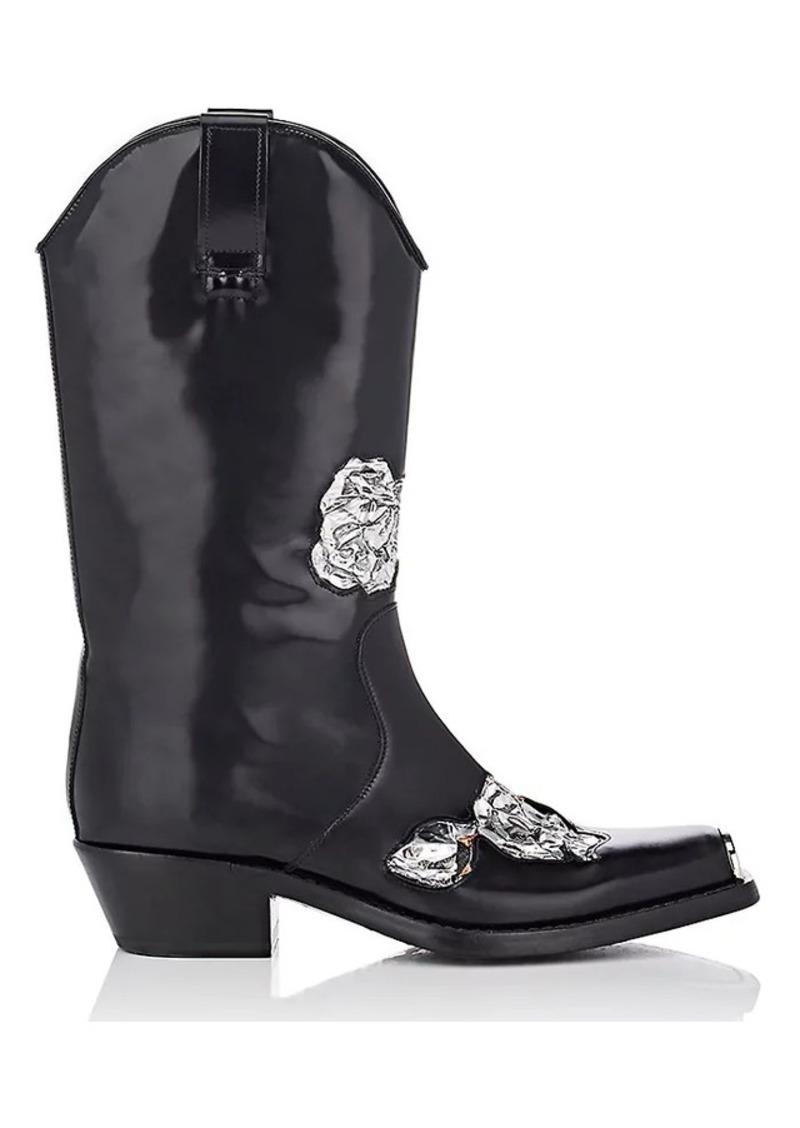 036e9f428e3 205W39NYC Men's Metal-Inset Spazzolato Leather Cowboy Boots