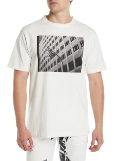 CALVIN KLEIN 205W39NYC Men's Photographic Flag T-Shirt