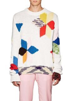 CALVIN KLEIN 205W39NYC Men's Quilt-Knit Cotton-Blend Oversized Sweater