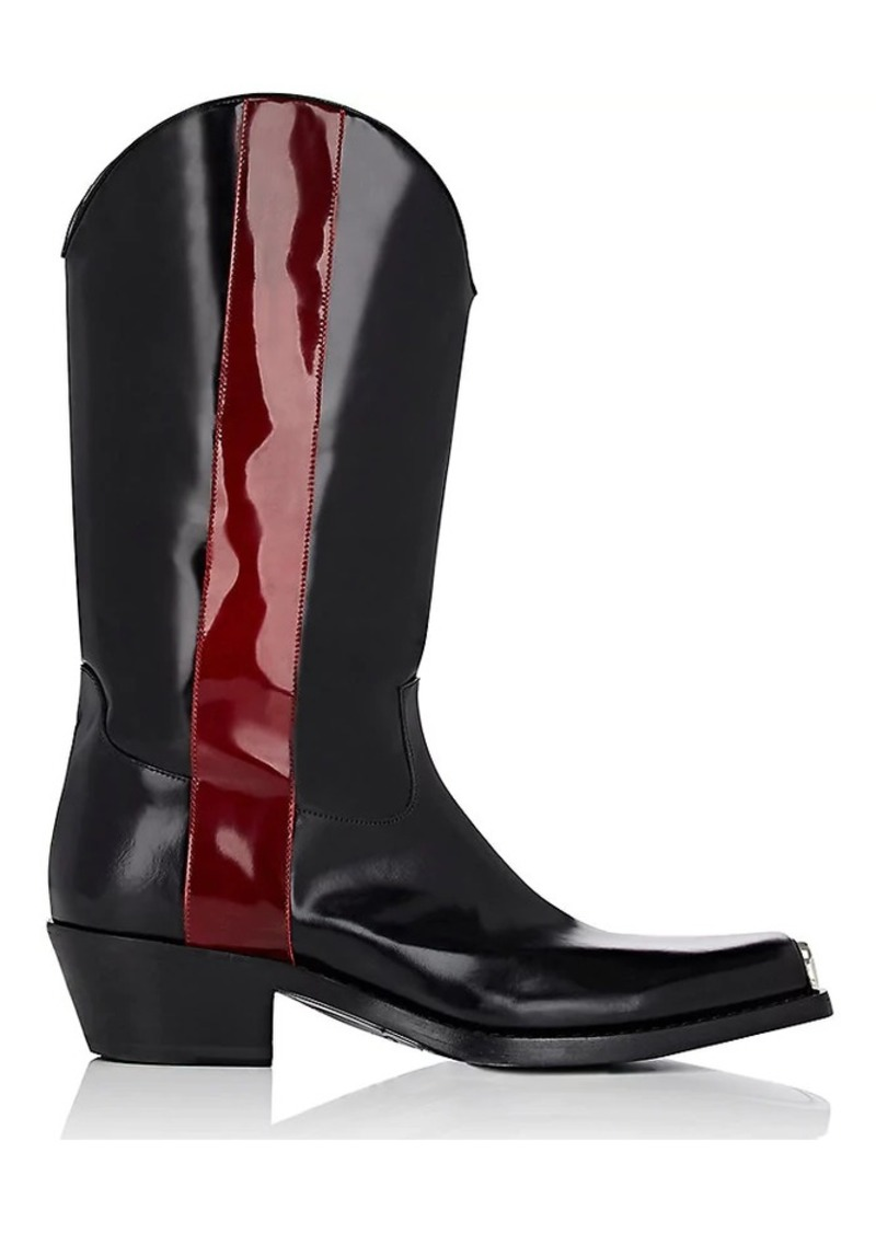 d4022975fa2 205W39NYC Men's Spazzolato Leather Cowboy Boots