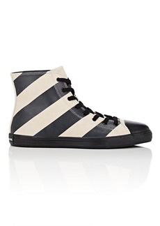 CALVIN KLEIN 205W39NYC Men's Striped Leather & Suede Sneakers