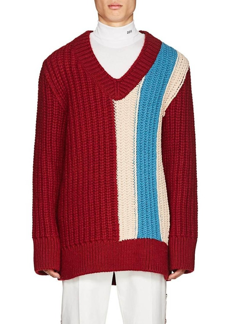 d6296af8d4 CALVIN KLEIN 205W39NYC Men s Striped Wool-Mohair Oversized Sweater