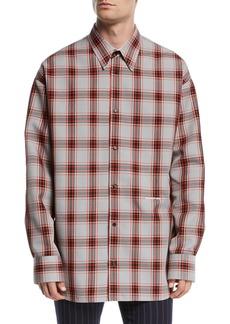 CALVIN KLEIN 205W39NYC Men's Tartan Check Sport Shirt