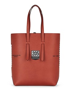 CALVIN KLEIN 205W39NYC Men's The Catch Football Leather Tote Bag - Brown