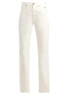 CALVIN KLEIN 205W39NYC Mid-rise straight-leg jeans