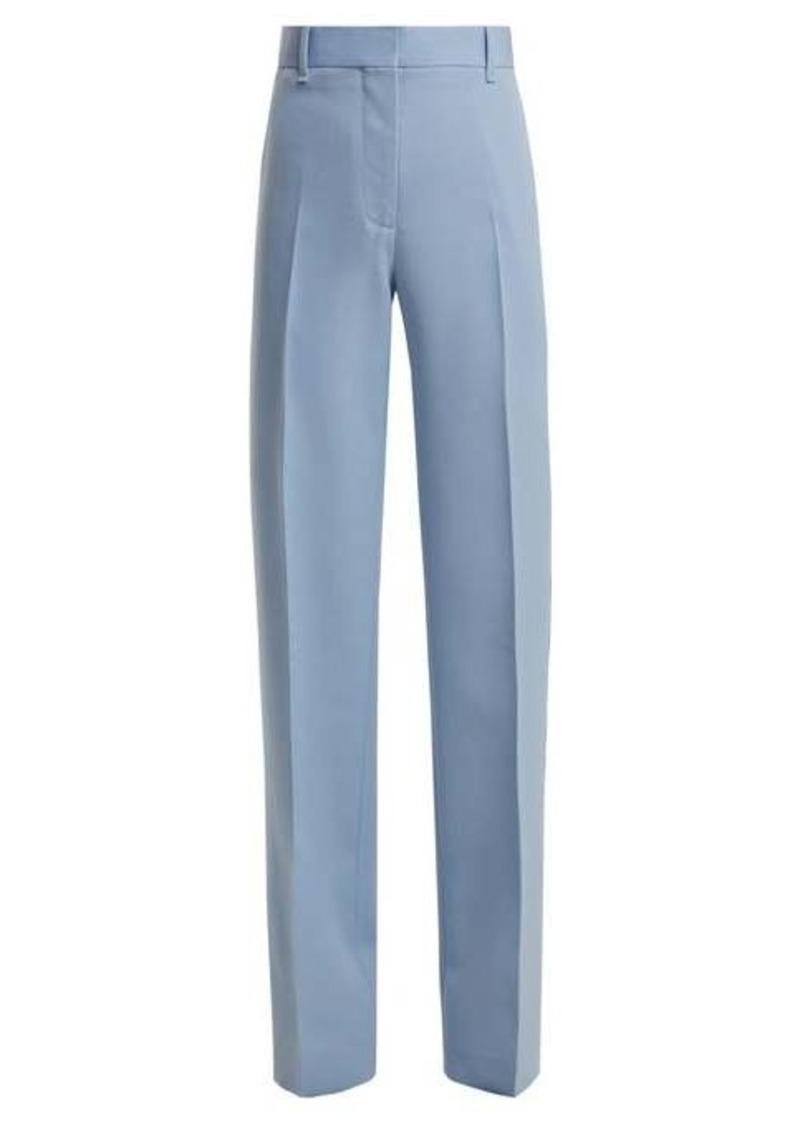 Calvin Klein Mid-rise wool-gabardine trousers