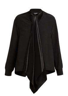 CALVIN KLEIN 205W39NYC Neck-tie silk blouse