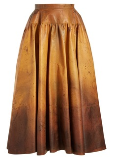 CALVIN KLEIN 205W39NYC Ombré leather skirt