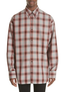 CALVIN KLEIN 205W39NYC Oversize Plaid Twill Shirt