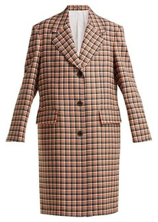 CALVIN KLEIN 205W39NYC Oversized checked wool coat