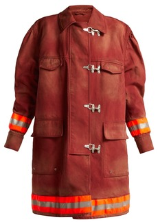 CALVIN KLEIN 205W39NYC Oversized cotton-twill firefighter coat