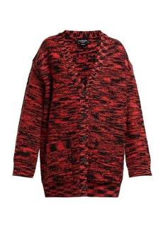 CALVIN KLEIN 205W39NYC Oversized space-dye wool cardigan