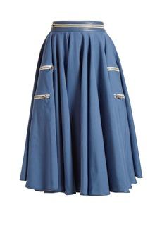 CALVIN KLEIN 205W39NYC Panama flared midi skirt