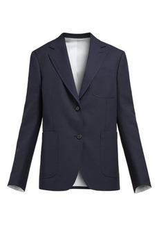 CALVIN KLEIN 205W39NYC Patch-pocket single-breasted blazer