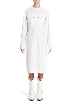 Calvin Klein 205W39NYC Pinstripe Cotton Poplin Dress