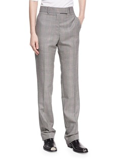CALVIN KLEIN 205W39NYC Plaid Worsted Wool Straight-Leg Trousers