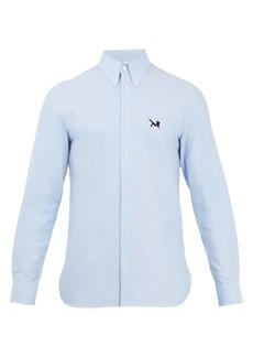 CALVIN KLEIN 205W39NYC Point-collar logo-embroidered cotton shirt