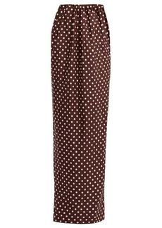 CALVIN KLEIN 205W39NYC Poly Faille polka dot-print maxi skirt