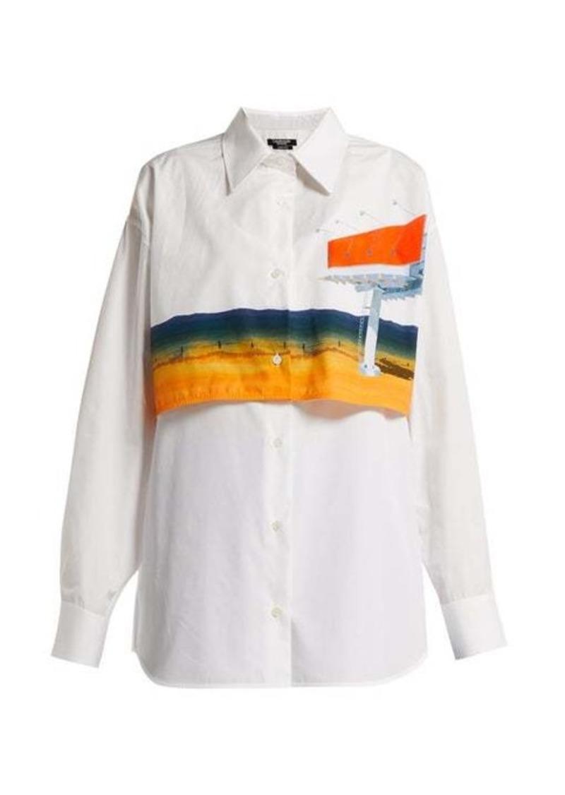 Calvin Klein Printed double-layered cotton shirt