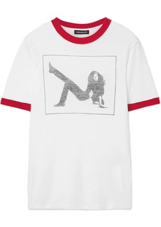 Calvin Klein Printed Slub Cotton-jersey T-shirt