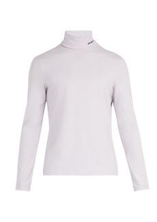 CALVIN KLEIN 205W39NYC Roll-neck cotton-blend top
