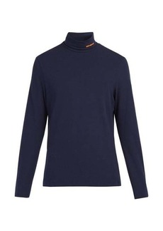 CALVIN KLEIN 205W39NYC Roll-neck cotton-blend top
