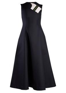 CALVIN KLEIN 205W39NYC Round-neck sleeveless cotton-blend midi dress