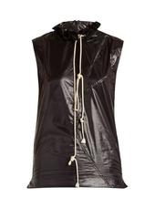 Calvin Klein Ruffle-trimmed drawstring-neck top