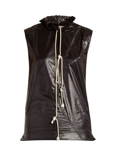 CALVIN KLEIN 205W39NYC Ruffle-trimmed drawstring-neck top