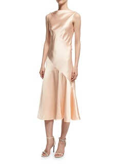 CALVIN KLEIN 205W39NYC Satin Bias-Cut Midi Dress