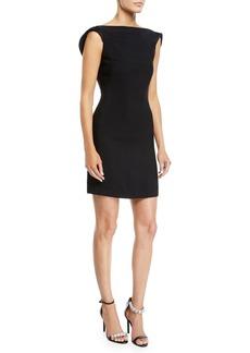 CALVIN KLEIN 205W39NYC Scoop-Back Square-Neck Viscose Cady Mini Dress