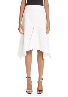 CALVIN KLEIN 205W39NYC Sharkbite Hem Cotton Gabardine Skirt