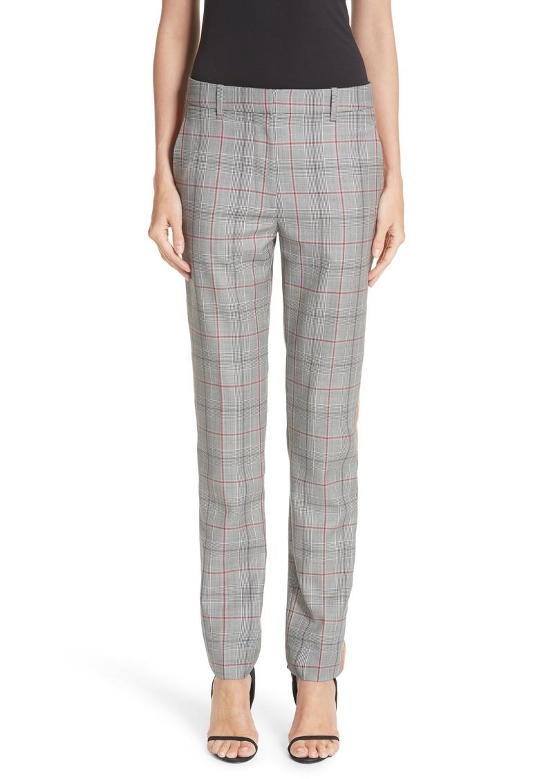 282c26b4 205W39NYC Side Stripe Plaid Wool Pants