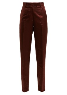 CALVIN KLEIN 205W39NYC Side-stripe straight-leg satin trousers