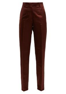 CALVIN KLEIN 205W39NYC Side-stripe straight-leg satin trousers